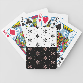 Two Toned Multi-Flower Pattern Bicycle Playing Cards