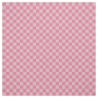 Two toned pink gingham checkerboard fabric