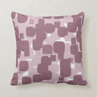Two TonedModern Stylish Pink Teal Abstract Pattern Throw Pillow