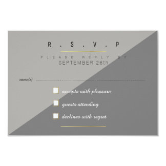 two tones of gray rsvp card