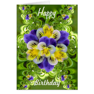 Two tones violas collage card