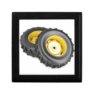 Two tractor wheels gift box