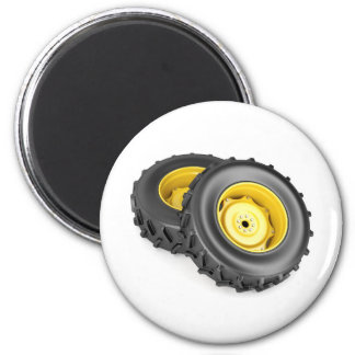 Two tractor wheels magnet