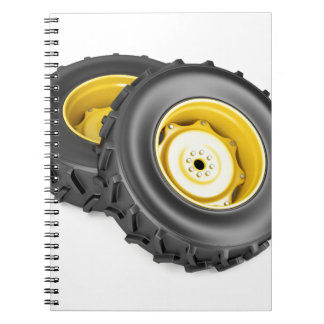 Two tractor wheels notebook