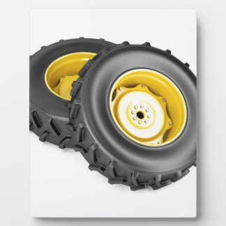 Two tractor wheels plaque
