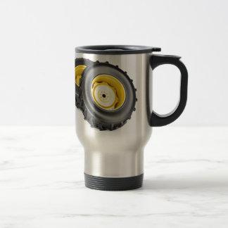 Two tractor wheels travel mug