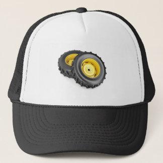 Two tractor wheels trucker hat
