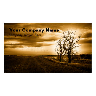Two Trees Sepia Fields  Custom Business Cards