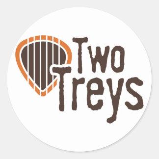 Two Treys Circle Sticker