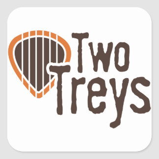 Two Treys Square Sticker