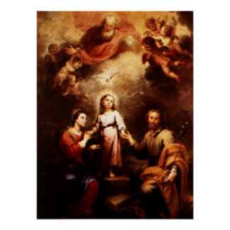 Two Trinities - The Holy Family - Murillo Poster
