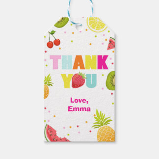 Two-tti Frutti thank you favor gift tags Fruity Pack Of Gift Tags