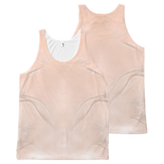 Two Tulips Flower Abstract in Peach All-Over-Print Tank Top