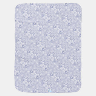 Two Tulips Flower Sketch in Blue Mirrored Swaddle Blankets
