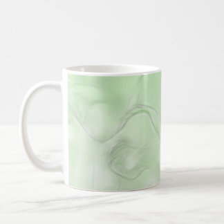 Two Tulips Flower Sketch in Green Coffee Mug
