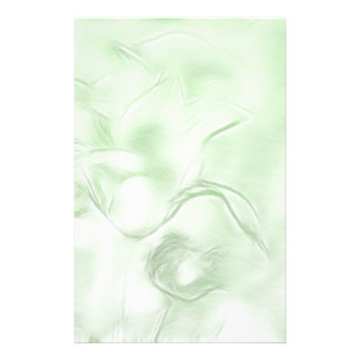 Two Tulips Flower Sketch in Green Stationery Paper