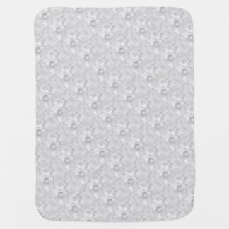 Two Tulips Flower Sketch in Light Gray Baby Blanket