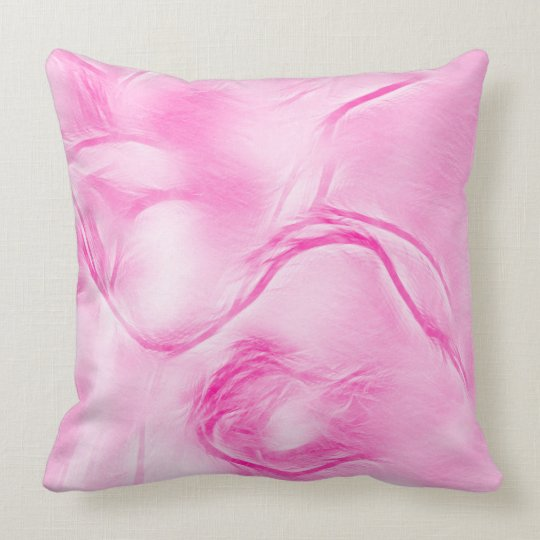 Two Tulips Flower Sketch in Magenta Pink Throw Pillow