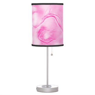 Two Tulips Flower Sketch in Pink Table Lamp