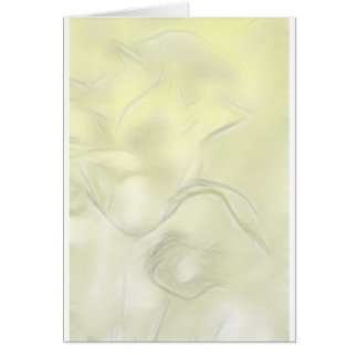 Two Tulips Flower Sketch in Yellow Card