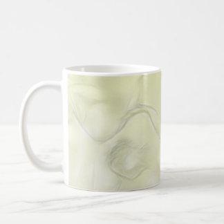 Two Tulips Flower Sketch in Yellow Coffee Mug
