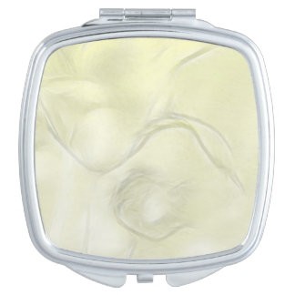 Two Tulips Flower Sketch in Yellow Mirror For Makeup
