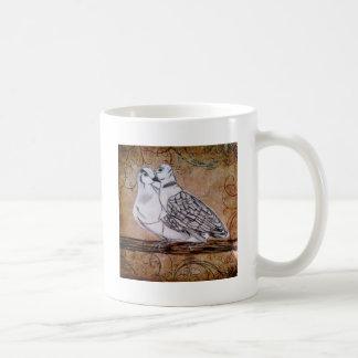 Two Turtle Doves Classic White Coffee Mug
