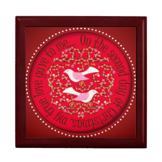 Two turtle doves gift box