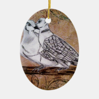 Two Turtle Doves Christmas Ornament