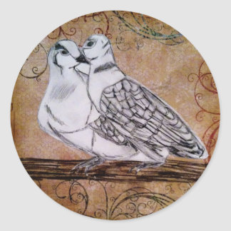 Two Turtle Doves Sticker