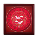 Two turtle doves trinket boxes