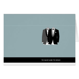 Two Tuxes - To Have and to Hold Card