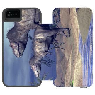 Two tyrannosaurus dinosaurs incipio watson™ iPhone 5 wallet case