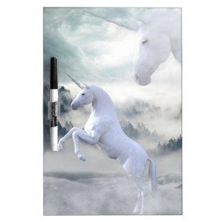 Two Unicorns Dry Erase White Board