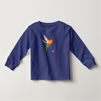 Two vibrant hummingbirds toddler t-shirt