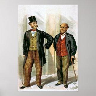 """""""Two Victorian Gentlemen"""" Vintage Poster"""