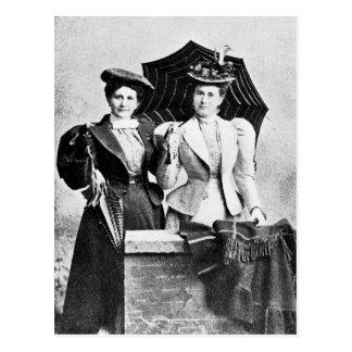 Two Victorian women, 1898 Postcard