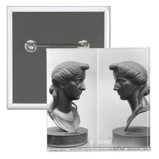 Two views of a bust of Livia 2 Inch Square Button