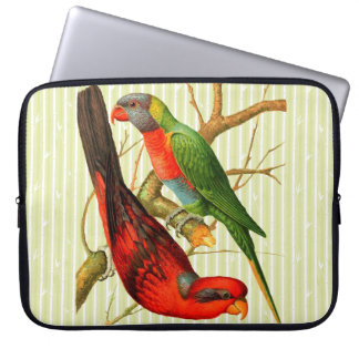 'Two Vintage Parrots' Laptop Sleeve