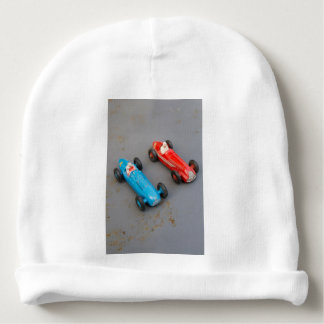 Two vintage toy cars baby beanie