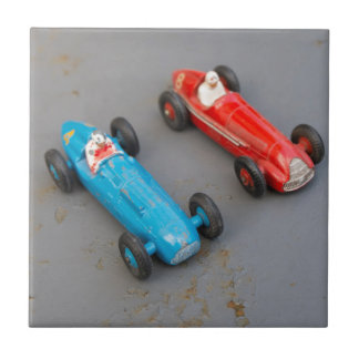 Two vintage toy cars tiles