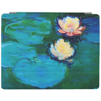 Two Water Lily Flowers Claude Monet Fine Art iPad Smart Cover