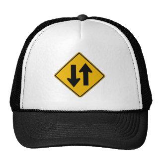 Two-Way Traffic, Traffic Warning Sign, USA Trucker Hat