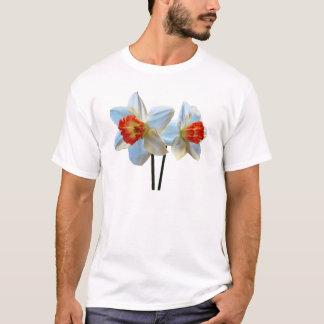 Two White And Orange Daffodils T-Shirt