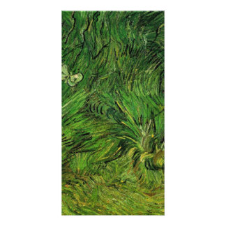 Two White Butterflies by Vincent van Gogh Personalized Photo Card