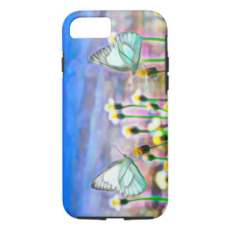 Two White Butterflies in a Yellow Flower Meadow iPhone 8/7 Case
