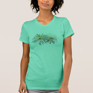 Two White Spider Mums Ladies T-Shirt