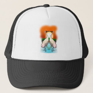 Two Whooping Cranes at Sunset Trucker Hat