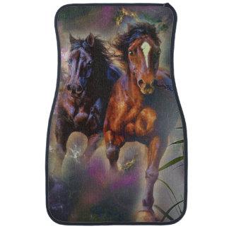 Two Wild Horses Running Free Car Carpet