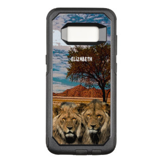 Two Wild Lions On African Savannah Background OtterBox Commuter Samsung Galaxy S8 Case